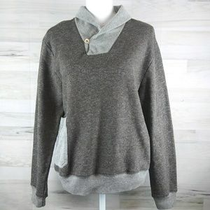 Anthropogie Koto Gray Brown Sweater Medium
